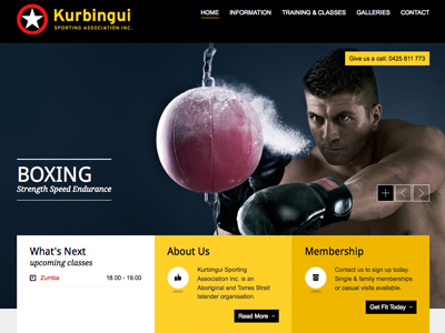 Web Design Gym and Boxing