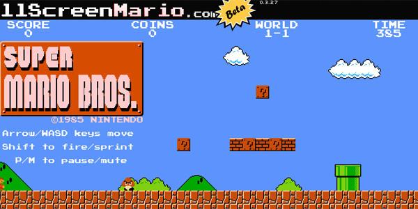 Full Screen Mario