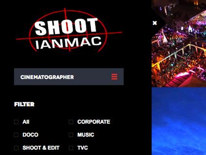 Web Design for Cinematographer