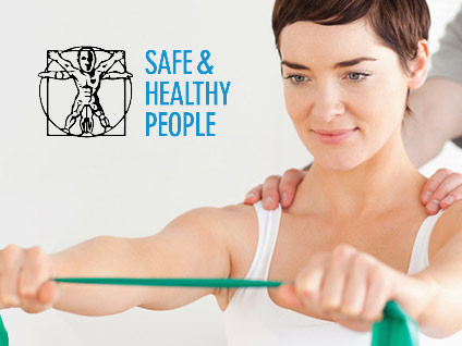 Safe and Healthy People website by Italics Bold