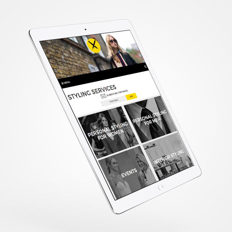 Fashion-blog-website-tablet
